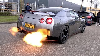 Download Nissan GT-R R35 - CRAZY REVS & FLAMES!! Video