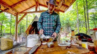 Download Cast Iron Cooking in the Off Grid Forest Kitchen | Corn Bread and Beans | Axe Repair Video