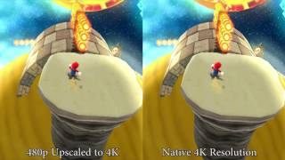 Download [TAS] Super Mario Galaxy Default Resolution vs 4K HD Resolution Video