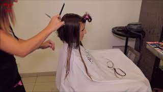 Download 2018-43 Adela preview - long hair cut to bob Video