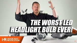 Download The Worst LED Headlight Bulb In The World!!! H4 LED Projector from China Video