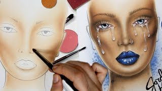 Download CRYBABY MAKEUP Face Chart Time Lapse Video