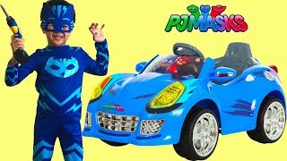 Download Unboxing PJ MASKS Battery Powered Ride On Cat Car 6V Test Drive Park Playtime Fun TBTFUNTV Video