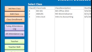 Download Student Database -MS Access Video