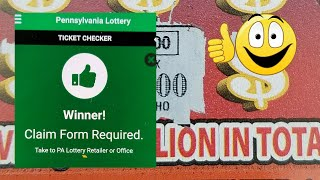 Download BIGGEST Live scratch Win. $100 in $20 Pa lottery scratch tickets. Claim ticket Video