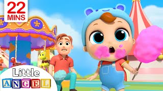 Download Playtime at the Theme Park | Little Angel Nursery Rhymes & Kids Songs Video