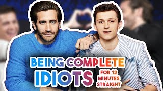 Download TOM HOLLAND & JAKE GYLLENGHAAL BEING IDIOTS FOR 12 MINS | FUNNY MOMENTS SPIDER-MAN Video