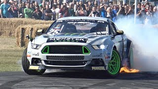 Download Vaughn Gittin Jr.'s 900HP Ford Mustang RTR MONSTER! - INSANE Sounds & Show @ Goodwood! Video