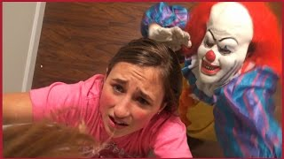 Download Scary Killer Clown Chases us in The House - Girls Run and Hide Scared Video