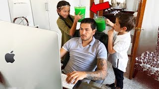 Download SLIME PRANK IN MY DAD'S OFFICE!! | Familia Diamond Video