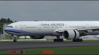 Download China Airlines Boeing 777-300ER B-18001 Landing at NRT 34R Video