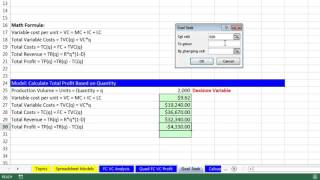 Download Basic Excel Business Analytics #03: Goal Seek For What-If Analysis Video