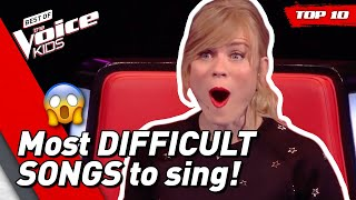 Download TOP 10 | Most DIFFICULT SONGS to sing in The Voice Kids Video