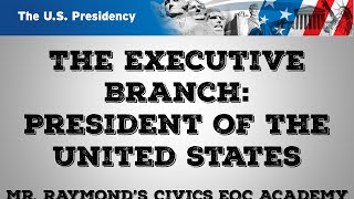 Download Executive Branch - Presidential Powers & Structure: Civics State Exam Video
