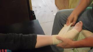 Download The right way to wrap a Sprained Ankle with an Ace Bandage. Video