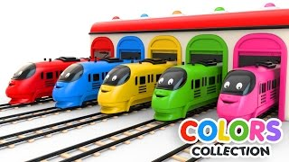 Download Colors for Children to Learn with Toy Trains - Colors Videos Collection Video