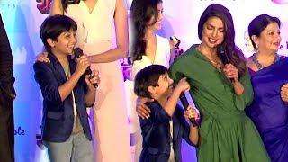 Download Priyanka Chopra's FUNNY Moments With Child Actor Nihar Gite At Kay Re Rascalla Press Conference Video