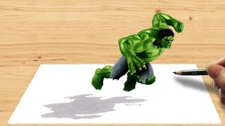 Download 3D Pencil Drawing: Hulk Avengers Age of Ultron - Speed Draw | Jasmina Susak Video