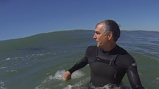 Download Great White Shark Surprises Solitary Surfer Video