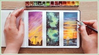 Download Watercolor Painting Ideas for Beginners | Wet in Wet Technique | Art Journal Thursday Ep. 39 Video