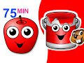 Download Red Apple Songs Collection | 75 Mins of Nursery Rhymes | BusyBeavers Teach Fruit Surprise Eggs More Video