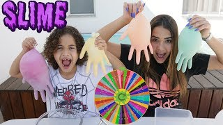 Download DESAFIO DA ROLETA MISTERIOSA DE SLIME!!! (Mystery Wheel of Slime Challenge!) Video