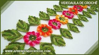 Download Caminho de Mesa em Croche Encantos da Natureza - Aprendendo Crochê Video
