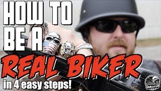 Download How to be a REAL BIKER in 4 easy steps Video