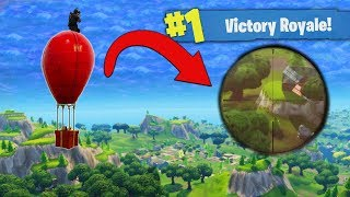 Download Sniping On The Airdrop Balloon! [Fortnite] Video