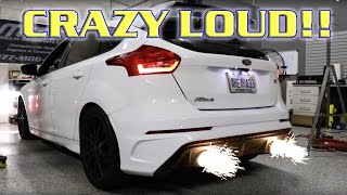Download Brutally Loud Straight Piped Focus RS! ETS Catback and Catless Downpipe Video
