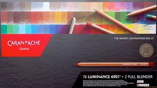 Download Caran d'Ache Luminance Full Set 76 | Unboxing | Color Chart Video