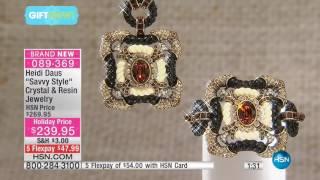 Download Heidi Daus ″Savvy Style″ Crystal Drop Necklace Video