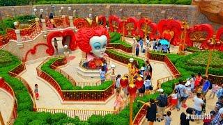 Download [HD] Shanghai Disneyland Maze Walk-through - Alice in Wonderland Maze Video