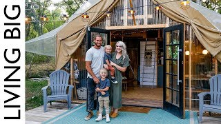 Download Back To Nature Living In A Beautiful Tiny House Tent Video