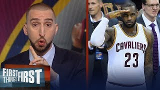 Download Nick Wright on Cavs over Boston, LeBron's legacy after passing Kareem | NBA | FIRST THINGS FIRST Video