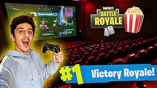 Download I Won a Game of FORTNITE in a MOVIE THEATER!! (Craziest Experience EVER) Video