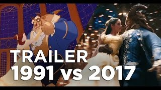 Download Beauty and the Beast Full Trailer - 1991 vs 2017 Comparison/Side by Side Video
