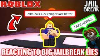 Download Reacting to the BIGGEST JAILBREAK LIES EVER | Roblox Jailbreak Video