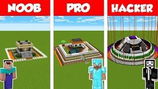 Download Minecraft NOOB vs PRO vs HACKER: SAFEST HOUSE BUILD CHALLENGE in Minecraft / Animation Video