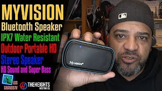 Download Myvision Bluetooth IPX7 Water Resistant Speaker 🔊 : LGTV Review Video