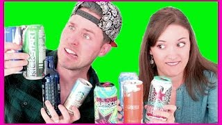 Download ENERGY DRINK TASTE TESTING (with my little sister) Video