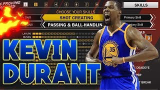 Download NBA 2K18 HOW TO CREATE KEVIN DURANT & BEST BUILD! 6'10 SHOT CREATOR PLAYMAKER SF BUILD IN NBA 2K18! Video