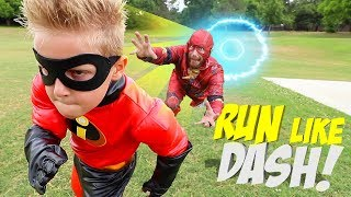 Download Run Like DASH, Future Little FLASH! The Incredibles 2 Gear Test for Kids! Video