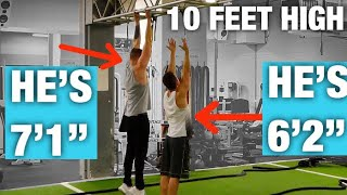 Download 7 FOOT GUY vs. 6'2″ GUY! WORKOUT CHALLENGE!! Video
