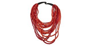 Download Natural Beauties Red Coconut Shell Horn Necklace Video