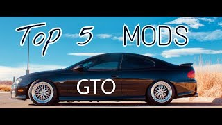 Download TOP 5 MODS FOR THE PONTIAC GTO! Video