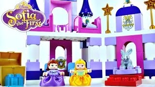 Download Princess Sofia The First Royal Lego Castle Disney Duplo Preschool Building Toys Princesa Castillo Video