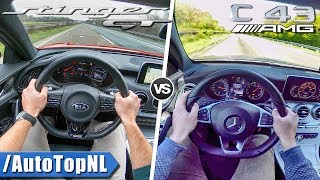 Download C43 AMG vs Kia Stinger GT | ACCELERATION TOP SPEED & AUTOBAHN POV by AutoTopNL Video