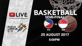 Download Basketball 🏀 Men's Semi-final match Philippines 🇵🇭 vs Singapore 🇸🇬 | 29th SEA Games 2017 Video