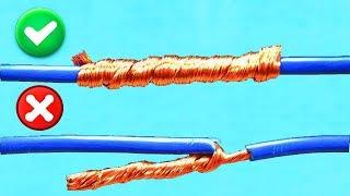 Download AWESOME IDEA! HOW TO TWIST ELECTRIC WIRE TOGETHER! Video